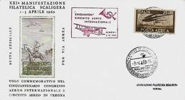 2,3-4-1960 XXI Manifestazione Filatelica Scaligera - Esposizioni Filateliche