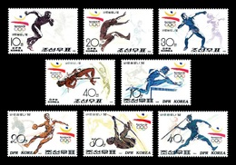 North Korea 1991 Mih. 3214/21 Olympic Games 1992 In Barcelona. Athletics MNH ** - Korea (Nord-)