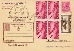22,23-5-1971 IX Mostra Filatelica Pisana (n. Cartolina 373 Di 500) - Esposizioni Filateliche