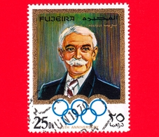 Emirati - FUJEIRA - 1970 - Olimpiadi - 75 Anni Del Comitato Olimpico Internazionale (IOC) 1969 - Pierre De Coubertin -25 - Fujeira