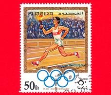 Emirati - FUJEIRA - 1970 - Olimpiadi - 75 Anni Del Comitato Olimpico Internazionale (IOC) 1969 - Portatore Di Torcia -50 - Fujeira
