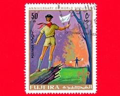 Emirati - FUJEIRA - 1970 - Scoutismo - Scouts - Segnali Con Bandiere - 50 - Fujeira