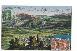25034 - Yverdon-Ste-Croix Panorama Circulée 1919 - VD Vaud