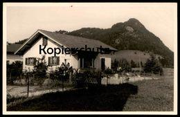 ALTE FOTO POSTKARTE PFRONTEN IM ALLGÄU HAUS HUBERTUS Bayern Geweih Hirschgeweih Horns Postcard Cpa Photo Ansichtskarte - Pfronten