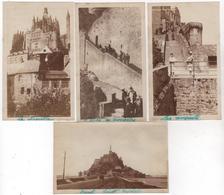 Photo Originale MONT Saint MICHEL Lot De 4 - Guerre, Militaire