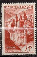 1947--tp N° 792--Abbaye De Conques 15F  -- Cote  5,35 € --..............à Saisir - France