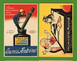 PUBBLICITARIE -  INCHIOSTRO - ENCRES ANTOINE / INCHIOSTRI AQUILA.   RIPRODUZIONE. - Publicité