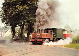Train Chemin De Fer De La Baie De Somme Locomotive 020 Corpet Louvet Au Départ Gare De St Saint Valery Vers Noyelle - Treinen