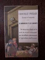 L25/104 CHROMO CHOCOLAT POULAIN. Le Laboureur Et Ses Enfants - Poulain