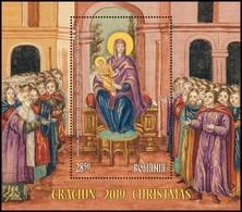 ROMANIA, CHRISTMAS 2019, Religion, Painting, Icon, Souvenir Sheet, MNH (**); LPMP 2261a - 1948-.... Repúblicas