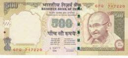 INDIA 500 RUPEES 2010 P-99e WITH LETTER E UNC */* - India