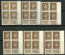 """N° 512 (x24) **/* (MNH/MH). 6 Coins Datés Différents Du 5 Et 8 /9/41 Et Du 10,11,12 Et 14 /11/41 / """"Pétain"""" - Ecken (Datum)"""