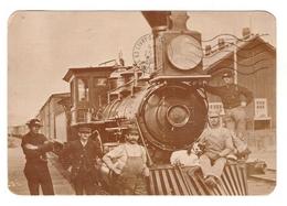 Train Chemin De Fer Rails West Locomotive N°124  Central Pacific CPM Cheminot Cheminots - Trains