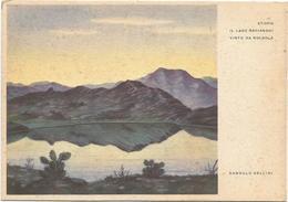 Y4585 Etiopia - Il Lago Ascianghi Visto Da Golgolà - Illustrazione Illustration Dandolo Bellini / Non Viaggiata - Etiopia