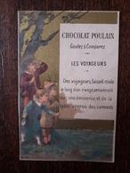 L25/107 CHROMO CHOCOLAT POULAIN. Les Voyageurs - Poulain