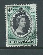 Pitcairn Islands 1953 QEII Coronation Single FU - Pitcairn Islands
