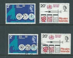 Pitcairn Islands 1968 WHO Set Of 2 Both MNH & FU - Pitcairn Islands