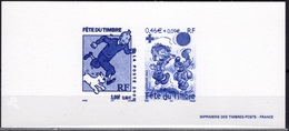FRANCE 3303 3468 Tintin Kuifje HERGE Boule Bill ROBA  Gravure Héliogravure Monochrome Imprimerie Timbres-poste [GR] - Comics