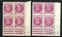 """N° 505 (x8) * (MH). 2 Coins Datés Du 4/11/41 Et 5/11/41 / """"Pétain"""". Voir Description - 1940-1949"""