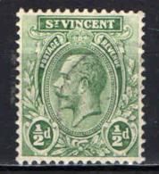 ST. VINCENT - 1913 - EFFIGIE DEL RE GIORGIO V - 1/2d. - USATO - St.Vincent (...-1979)