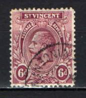 ST. VINCENT - 1913 - EFFIGIE DEL RE GIORGIO V - 6 D. - USATO - St.Vincent (...-1979)