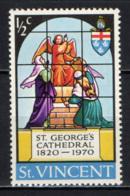 ST. VINCENT - 1970 - St. George's Cathedral - MNH - St.Vincent (...-1979)