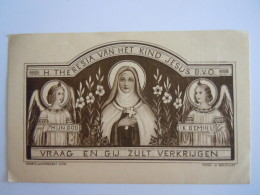 Image Pieuse Santini H. Theresia Van Het Kind Jesus Edit Abbaye De Maredret Belgium - Images Religieuses