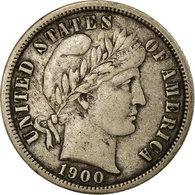 Monnaie, États-Unis, Barber Dime, Dime, 1900, U.S. Mint, San Francisco, TB+ - Federal Issues