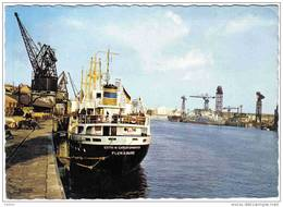 """Carte Postale 44. Nantes  Déchargement Du Cargo """"Edith-N-Christophersen"""" Flensburg Très Beau Plan - Nantes"""