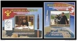 North Korea 2017 Mih. 6400/01 (Bl.947/48) Intercontinental Ballistic Missile Hwasong-14. Kim Jong Un MNH ** - Korea, North