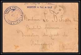 3846 Division Navale Croiseur Du Chayla 1913 Port De Salé Lettre Cover France Guerre Maroc War - Postmark Collection (Covers)