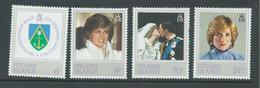 Pitcairn Islands 1982 Princess Diana 21st Birthday Set 4 MNH - Pitcairn Islands
