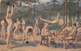 "443 -AUSTRIA - Cartolina Illustrata "" Herren Im Luftbade""  - Nuova - - Nuovi"