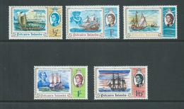 Pitcairn Islands 1967 Discovery Anniversary Set Of 5 MNH - Pitcairn Islands
