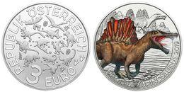 Autriche 2019 : 3€ 'Dinosaure' ('Spinosaurus') Colorisée - Disponible En France - Austria