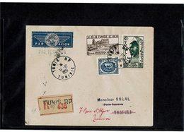 LCTN59/LE/2 - TUNISIE LETTRE AVION TUNIS / TRIPOLI 14/12/1951 - Tunisia (1888-1955)