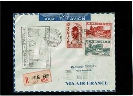 LCTN59/LE/2 - TUNISIE LETTRE AVION TUNIS / MONTREAL 7/10/1950 - Tunisie (1888-1955)