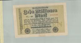 Billet De Banque  Allemagne 10 Million De  Mark,   1923-10-01   TB DESC 2019 Gerar - [ 3] 1918-1933 : République De Weimar