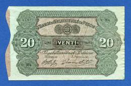 Italia - 20 Lire Banca Di Valdinievole In Pescia - Biglietto Fiduciario 1870 R5 PS961a QSpl / AXF - [ 1] …-1946 : Regno