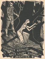 Ex Libris Szilvássy Katalin Es Nagy Lajos György Jegyesek - Béla Stettner - Ex-libris