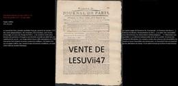 """PARIS  """" JOURNAL DE PARIS & LA GAZETTE DE PARIS """", PERIODE REVOLUTIONNAIRE. - Documents Historiques"""