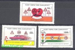 Northern Cyprus 1990 Mi 286-288 MNH ( ZE2 CYT286-288 ) - Voitures