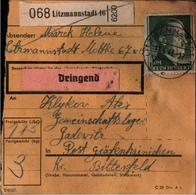 ! 1943 Paketkarte Deutsches Reich, Litzmannstadt, Gräfenhainichen, Lager - Germania