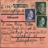 ! 1943 Paketkarte Deutsches Reich, Mesekenhagen , Kreis Grimmen, Vorpommern - Allemagne