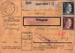 ! 1943 Paketkarte Deutsches Reich, Nixdorf, Sudetenland - Covers