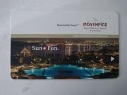 Egypt Hotel Key, Movenpick Resort Sharm El Sheik Naama Bay (1pcs) - Hotelkarten