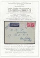 L. Par Avion Affr. N°528 Càd TIELT C/12.3.1943 Pour BAD-LAUTERBERG - Flamme Censure 'A.c.' - WW II