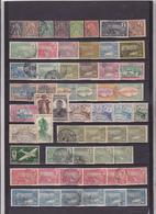 UN LOT DE 56 TIMBRES ANCIENS OBLITERES - Guadeloupe (1884-1947)