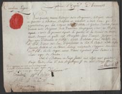 """""""Attestation De Bons Services"""" Du 7e Régiment D'Hussards (cavalerie Légère) Pour 2 Hussards - BETHUNE 20 Juillet 1793 - Documents"""