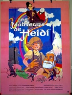 Aff Ciné Orig MALHEURS D HEIDI Robert Taylor 160X120 1982 - Manifesti & Poster